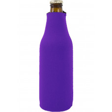 Foam Zipper Beer Bottle Coolie (Multi-Color Print)