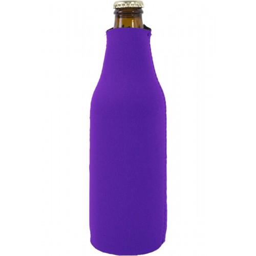 Foam Zipper Beer Bottle Coolie (Multi-Color Print)