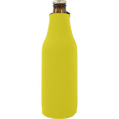 Foam Zipper Beer Bottle Coolie (1 Color Print)
