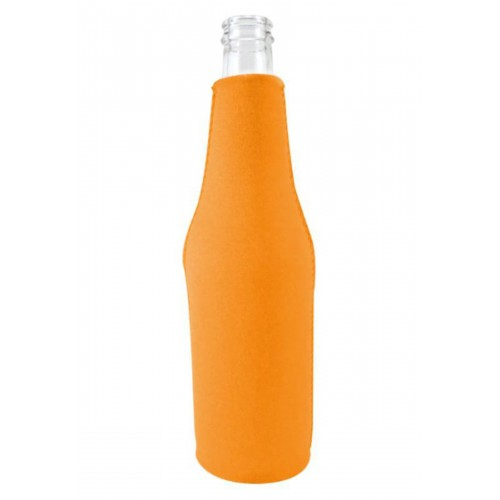 Neoprene Beer Zipper Bottle Coolie (Multi-Color Print)